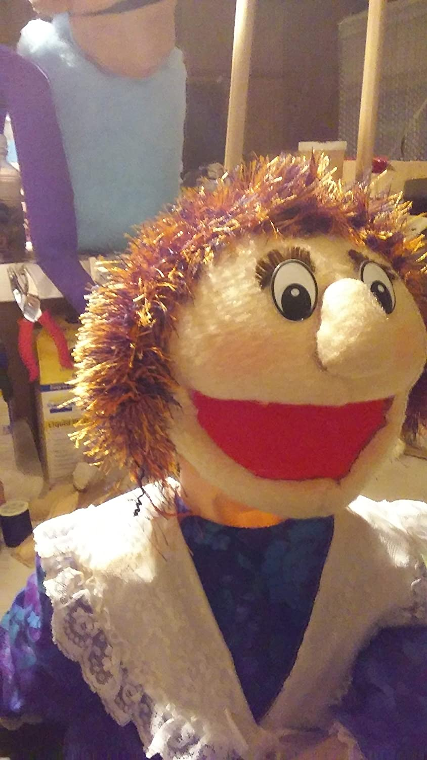 Covered with Antron Muppet Fleece Handmade girl puppet
