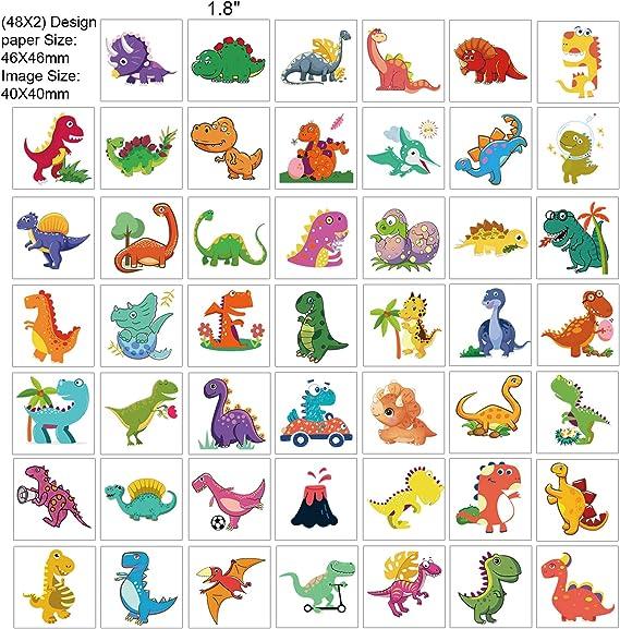 HOWAF Dino Tattoo Kinder Dinosaurier Kindertattoos Aufkleber f/ür Jungs Kindergeburtstag Mitgebsel Party Spielen Geschenkidee Dinosaurier Tempor/äre Tattoos Set Tattoos Kinder Jungen