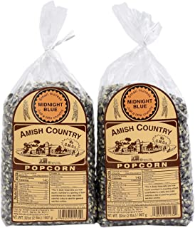 product image for Amish Country Popcorn - 2 (2 Lb Bags) Midnight Blue Kernels - Old Fashioned, Non GMO, Gluten Free, Microwaveable, Stovetop and Air Popper Friendly with Recipe Guide