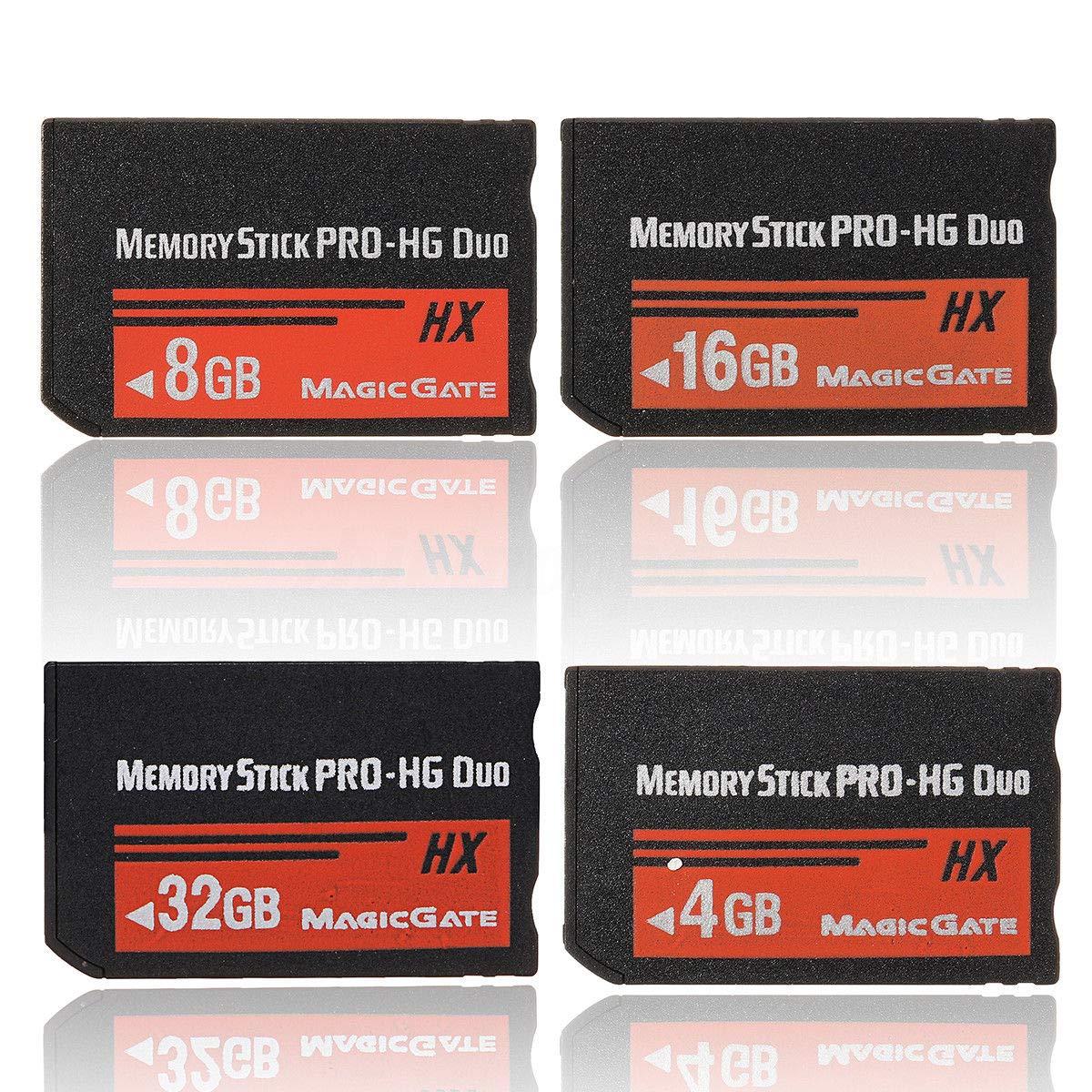 Glossia 32GB Tarjeta de Memoria Ms Pro Duo HX Tarjeta Flash para Cybershot C/ámera