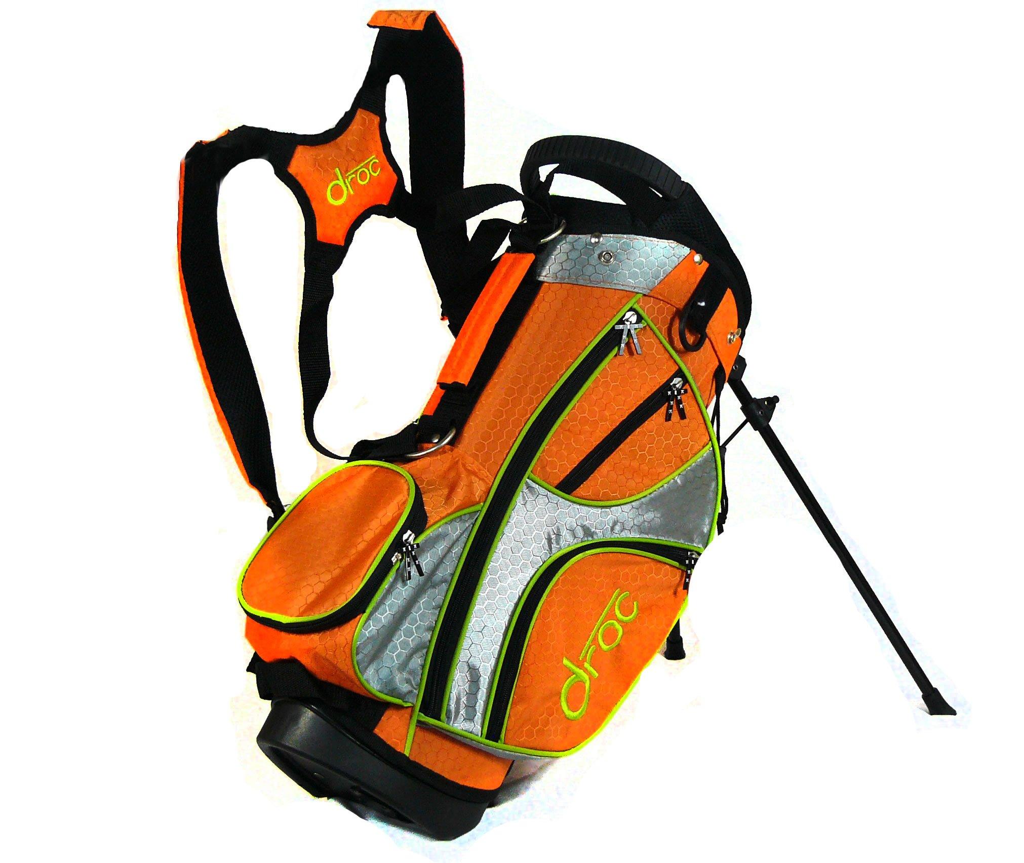 droc - Mica Left Handed Series 7 Pieces Golf Club Set & Golf Bag Ages 3-6 Left Handed (Titanium, Regular) by droc (Image #8)
