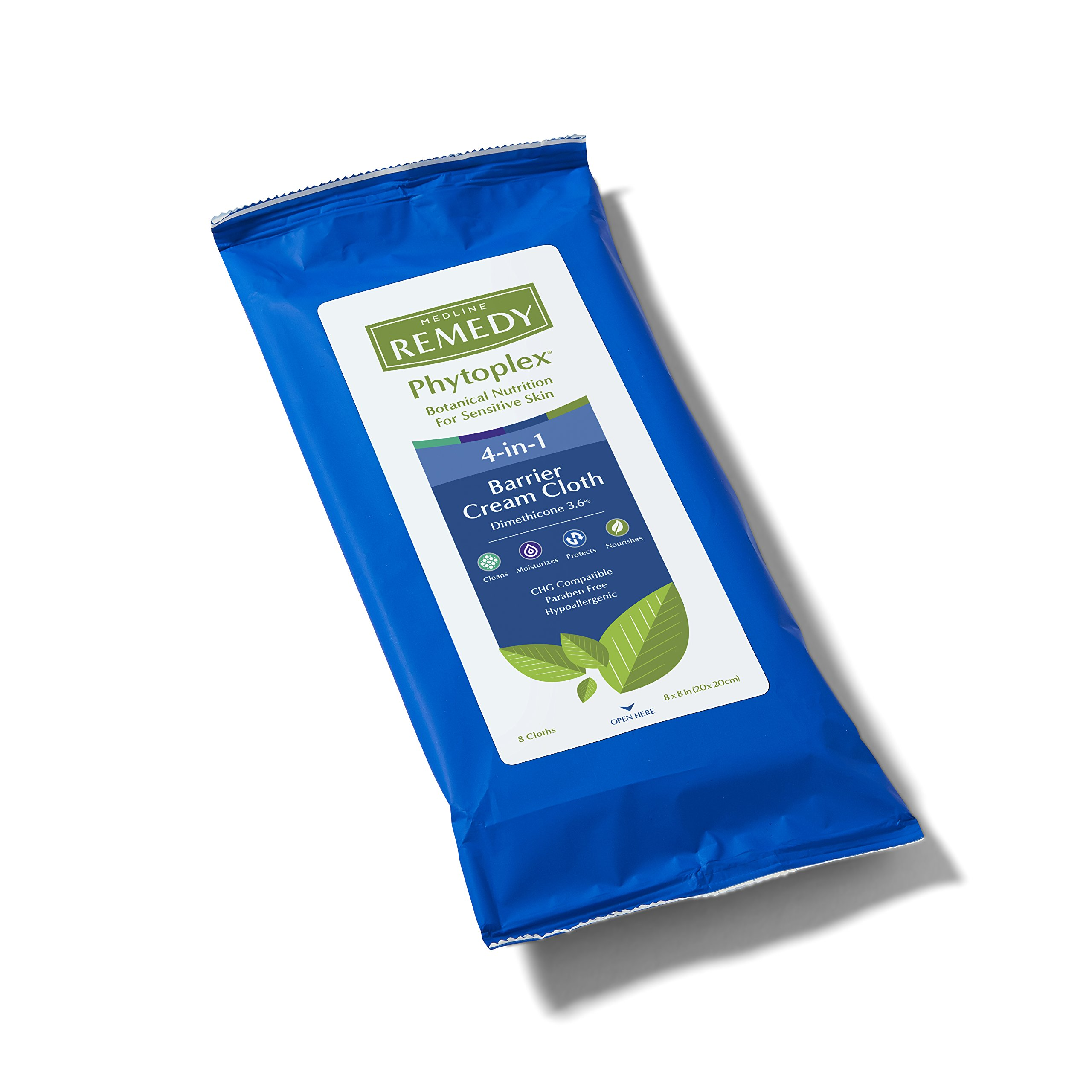 Medline MSC092508 Remedy Phytoplex 4-in-1 Barrier Cream Cloths with Dimethicone (Pack of 256) by Medline (Image #2)