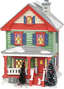 Department 56 Original Snow Village National Lampoon's Christmas Vacation Aunt Bethany's House Lit Building, 8.07 Inch, Multicolor