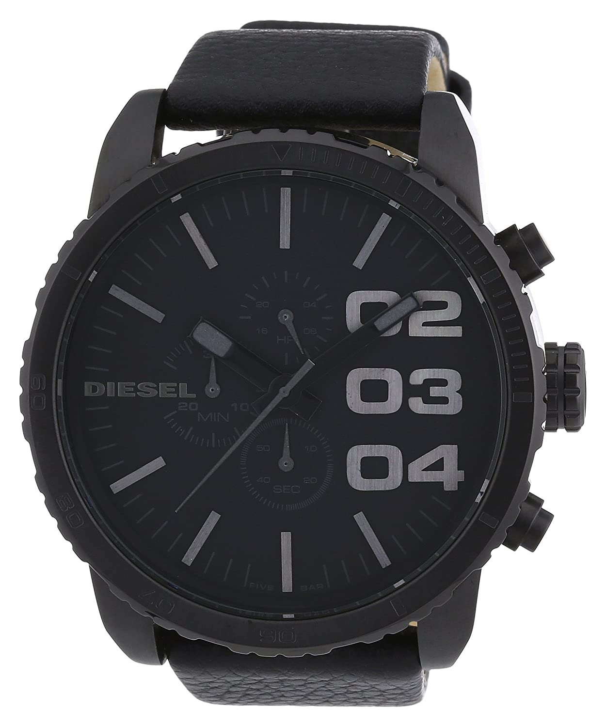 Amazon.com: Diesel Gents Stainless Steel Watch with Leather Strap: Watches