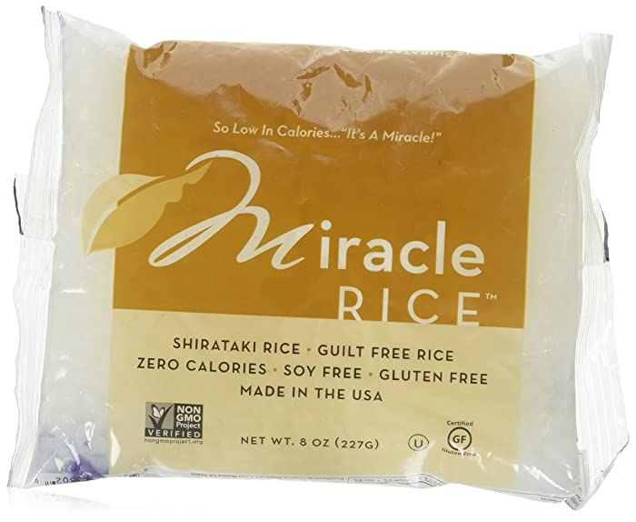 Miracle Noodle Shirataki Miracle Rice 10 Bags 8/OZ