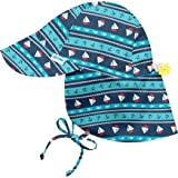 i play. Boys' Toddler Navy Nautical Stripe Print Flap Hat with Toggle 2T-4T, 2/4T