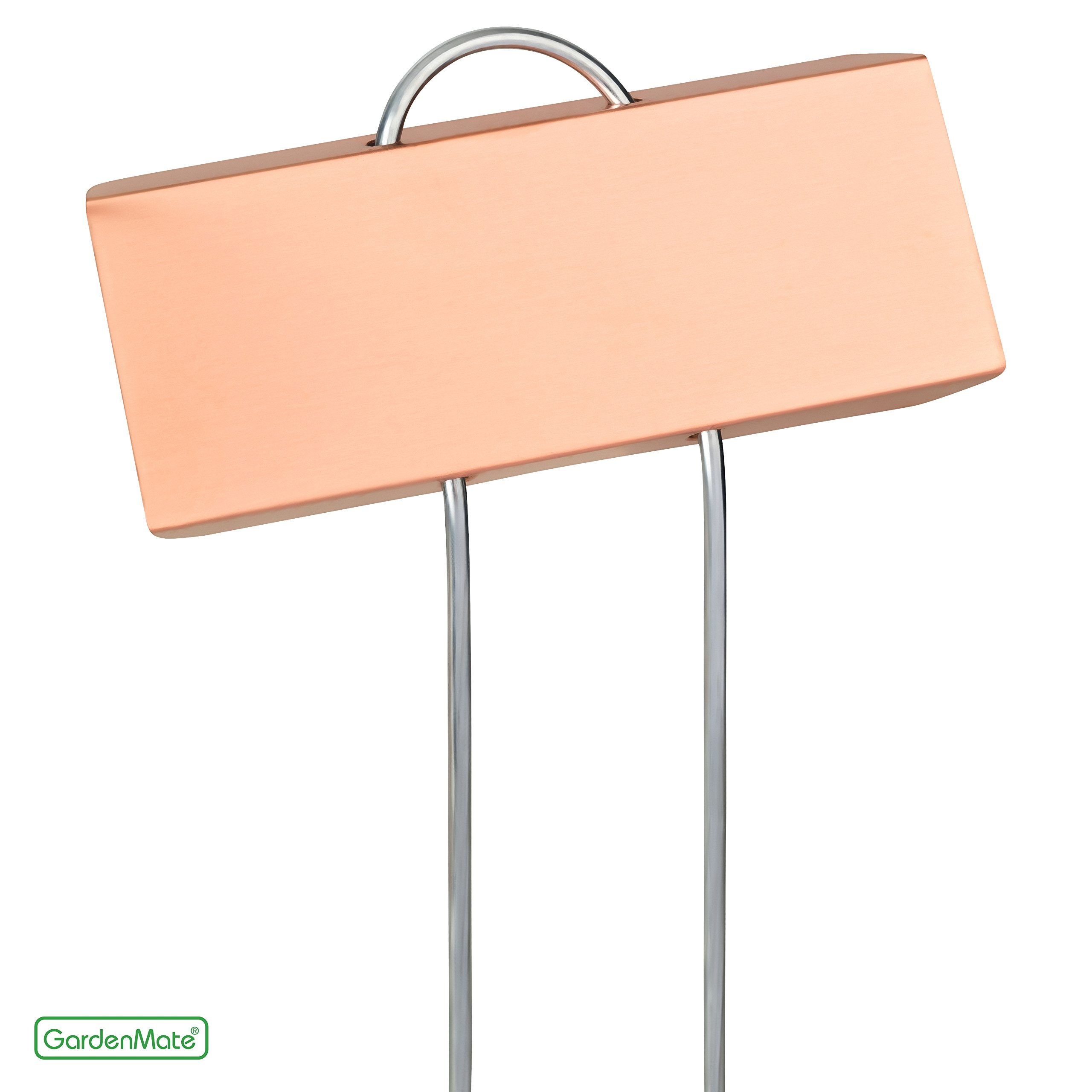 GardenMate 25-Pack 11.5'' tall Metal Plant Label LARGE COPPER with 3 1/2'' x 1 1/4'' labeling tag