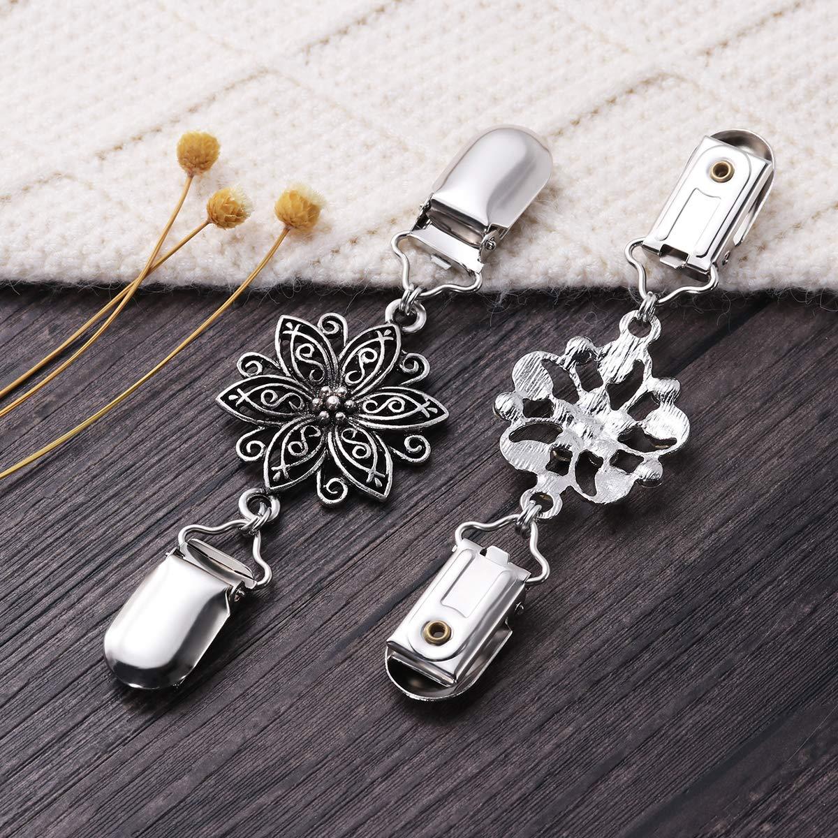 TENDYCOCO BESTOYARD Pullover Clips Vintage Pullover Kette Silber Farbe Strickjacke Clip f/ür Kleid Kleidung 4 st/ücke
