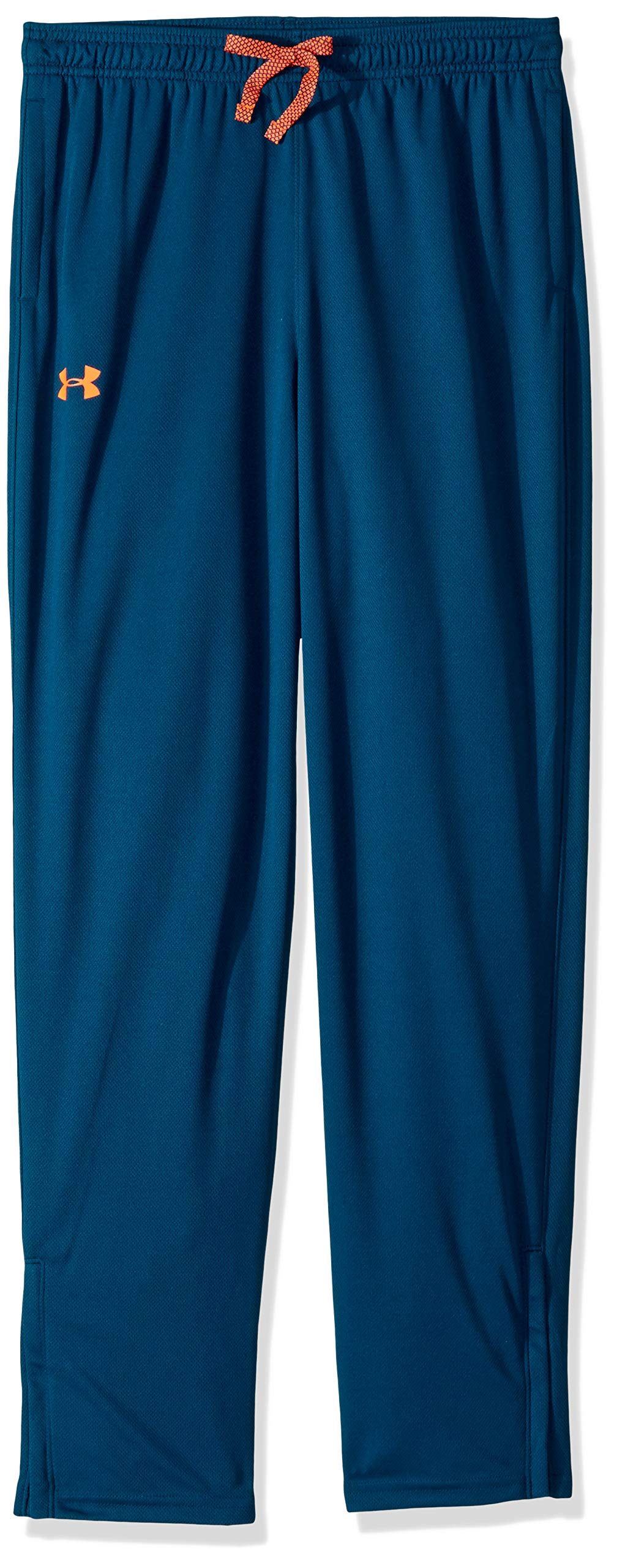 Under Armour Boys' Tech Pants Techno Teal (489)/Magma Orange Youth X-Small by Under Armour