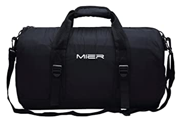 MIER 40L Foldable Barrel Gym Bag Sports Holdall Duffel For Women Ladies And Men