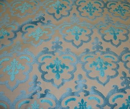 Amazon Com Peacock Damsk Embossed Raised Velvet Upholstery Drapery