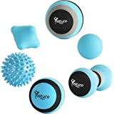Posture Magic Massage Ball Set for Myofascial Trigger Point Release & Deep Tissue Massage - Set of 6 - Large Foam/Small Foam/