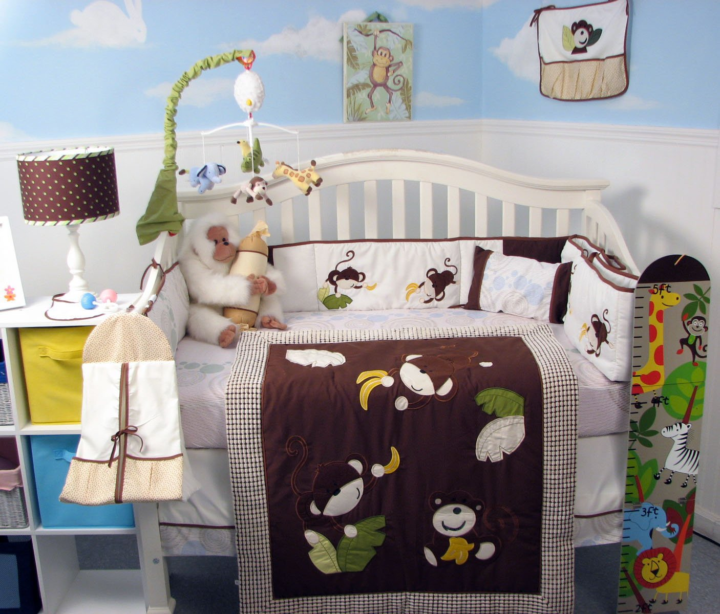 SoHo Monkey Business Bedding Baby Crib Nursery Bedding Set B00BF1STME Changing 13 pcs included Diaper Bag with Changing Pad & Bottle Case by SoHo Designs B00BF1STME, オオアライマチ:82641b1e --- ijpba.info