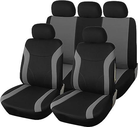 Schwarz-graue Dreiecke Sitzbezüge für SEAT TOLEDO Autositzbezug VORNE
