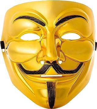 Ultra Dorado Adultos Guy Fawkes Mascara Hacker Anónima V de ...