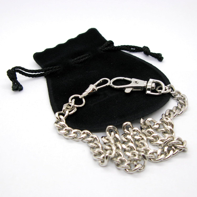 Amazon.com: Reloj de bolsillo cadena bañado en plata Curb ...