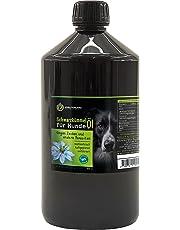 Kräuterland Schwarzkümmelöl für Hunde, 1000ml, ungefiltert, 100% naturrein, mühlenfrisch, direkt vom Hersteller, natürlicher Zeckenschutz & Fellpflege