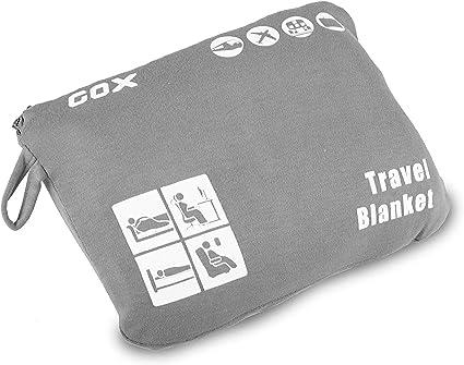 Coperta da viaggio morbida e compatta leggera e portatile con borsa come Cuscini da viaggio Blu navy