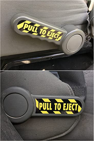 Off-Camber Designs Pull to Eject Decal Pair for All Jeep Wrangler JK Models 2007-2018