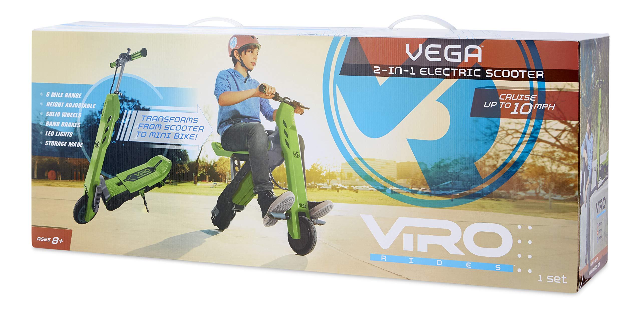 Viro Rides Vega Transforming 2-in-1 Electric Scooter and Mini Bike UL 2272 Certified by Viro Rides (Image #6)