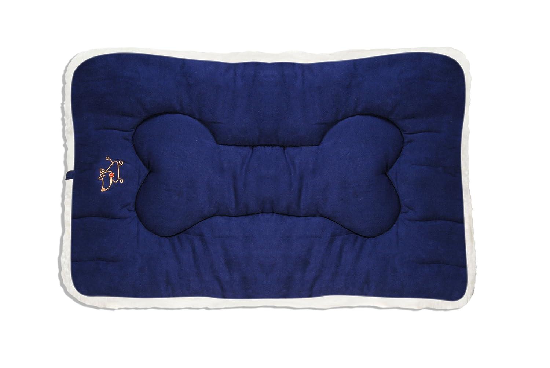Navy bluee Medium Navy bluee Medium Best Pet Supplies Double-Sided Crate Mat, Medium, Navy bluee Suede