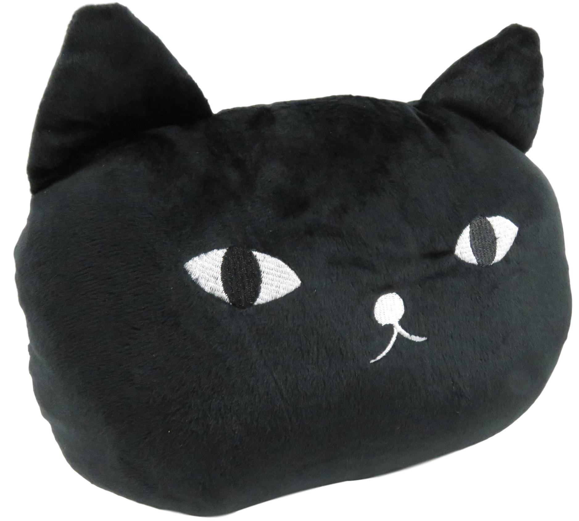 Daiso Adorable Cat Pillow Pad Car Sofa Chair Bed Cushion 10 x 9 Inches Black