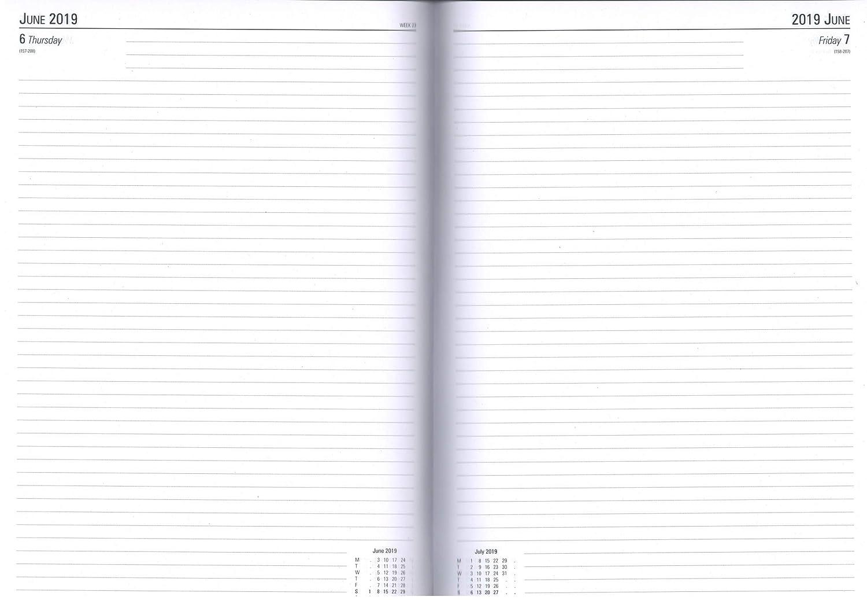 Diario de escritorio A4 2019 azul KFA41BU19