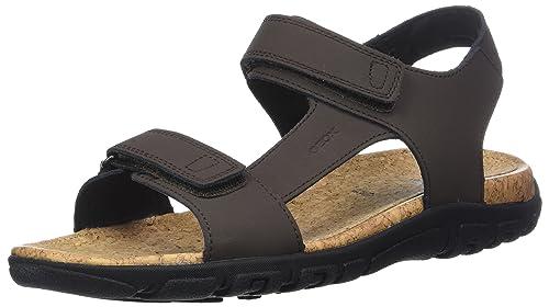 Mens Uomo Strada C Ankle Strap Sandals Geox 3R9a5h