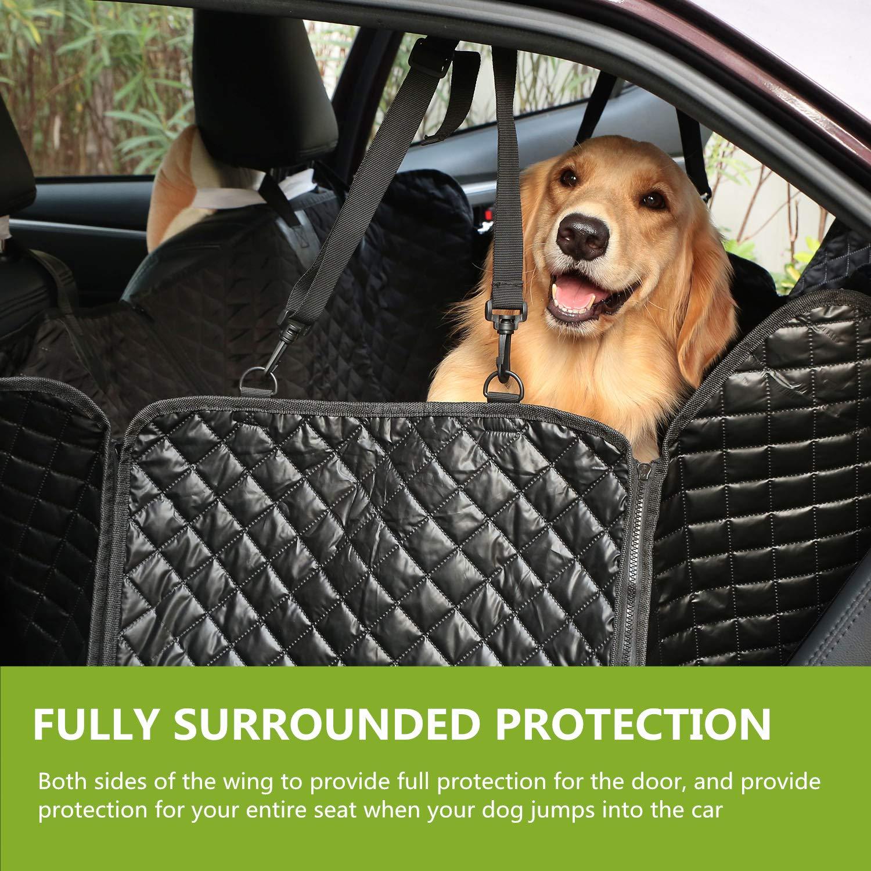 Pecute Cubierta de Asiento de Perro Impermeable de Coche para Mascotas - Manta el estilo Hamaca Dispositivo de Protección Antideslizante Protección de Mascotas Perros para Viajes