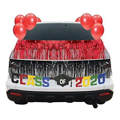 Red Graduation Car Parade Decorating Kit - Party Decor - 30 Pieces: Health & Personal Care