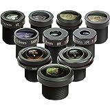 "M12 Lens Set, Arducam Lens for Raspberry Pi Camera (1/4"") and Arduino, Telephoto, Macro, Wide Angle, Fisheye Lens Kit…"