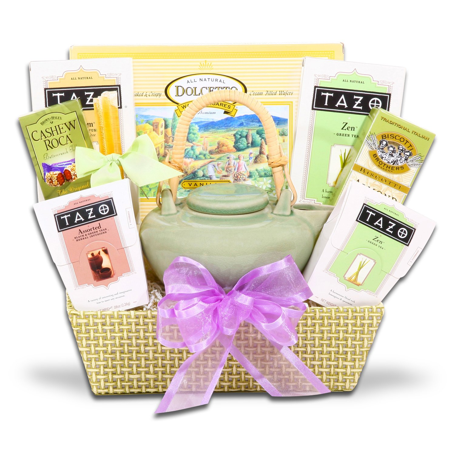 Amazon.com : Tazo Tea Gift Set w/ Walkers Cookies and Biscotti : Gourmet Snacks And Hors Doeuvres Gifts : Grocery & Gourmet Food