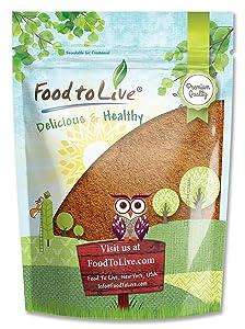 Cacao Powder, 8 Ounces - Kosher, Raw, Vegan, Unsweetened, Bulk
