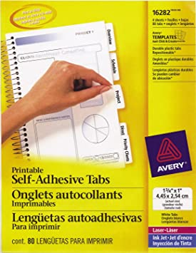 picture regarding Printable Self Adhesive Tabs known as Avery Printable Self-Adhesive Tabs, 80 Tabs, 1-3/4-Inch x 1