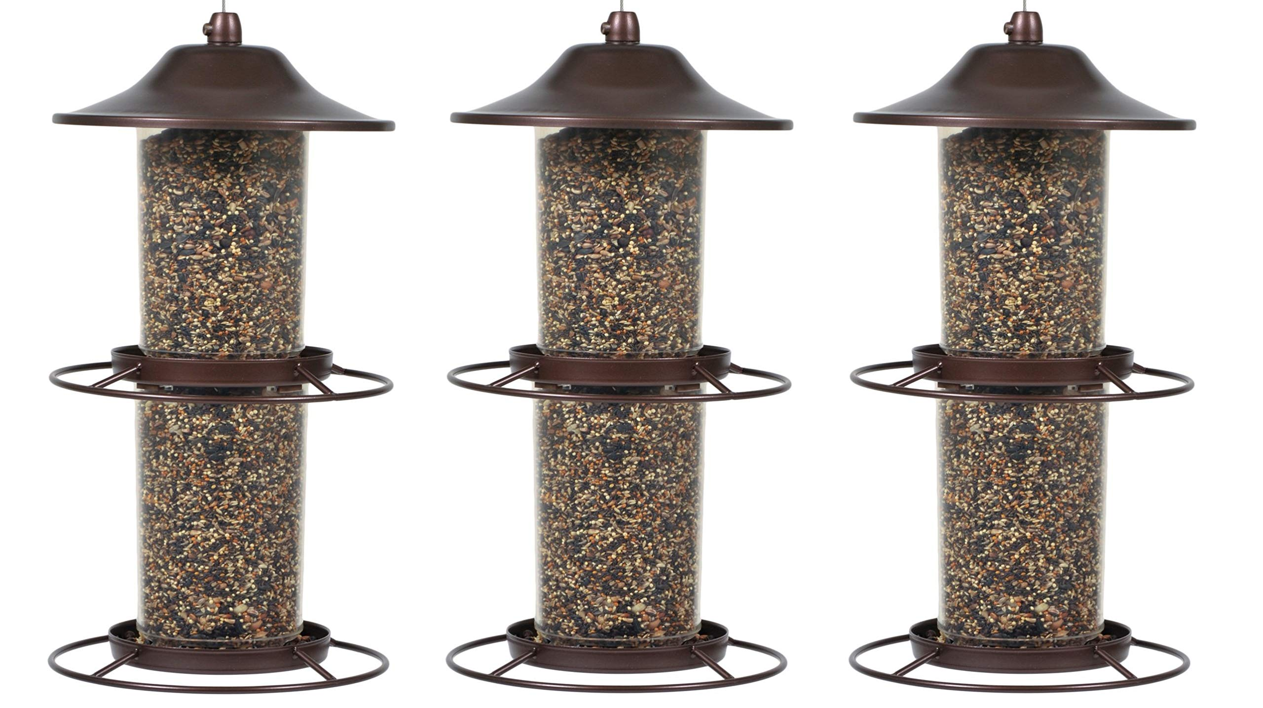 Perky-Pet 325S Panorama Bird Feeder (Pack of 3)
