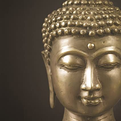 Black Gold Buddha Outdoor Canvas Garden Wall Art Picture 57cm X