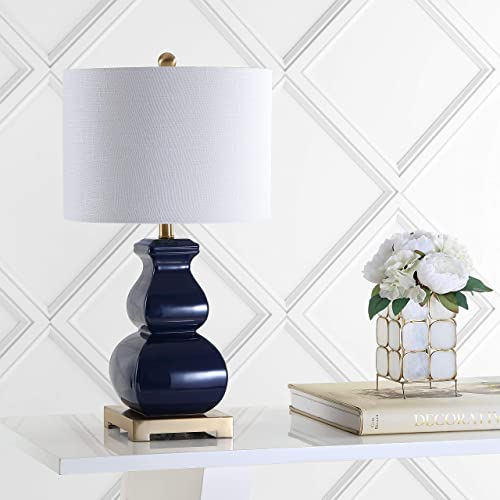 JONATHAN Y JYL3049A Vienna 25.5 Ceramic Table Lamp, Navy