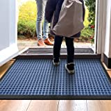 DEXI Durable Front Door Mat, Waterproof, Low-Profile, Heavy Duty Doormat for Indoor Outdoor, Easy Clean Rug Mats for Entry, P