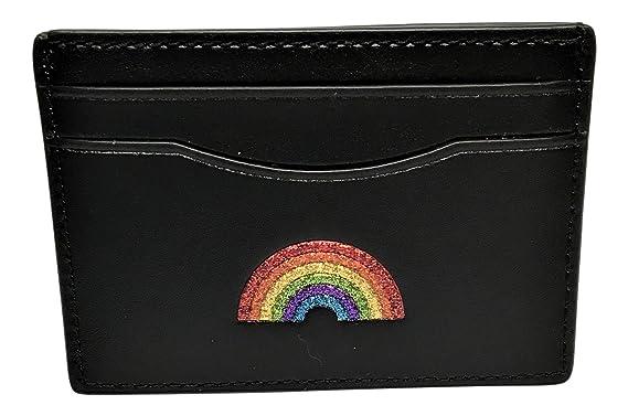 84d950a070 Coach Glitter Rainbow Card Case Black F27037 at Amazon Women's ...