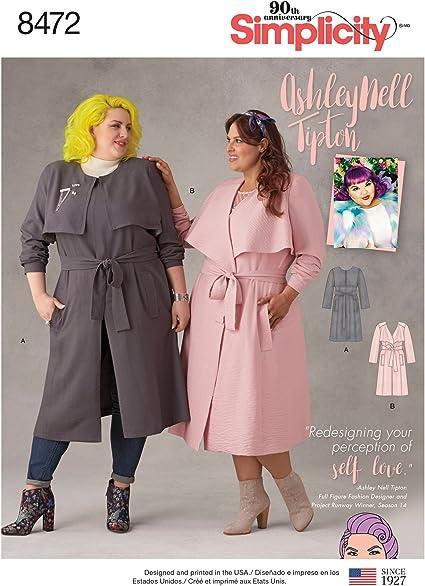 Simplicity Creative Patterns US8345F5 Plus Size Dress F5 Top /& Skirt 18W-20W-22W-24W-26W
