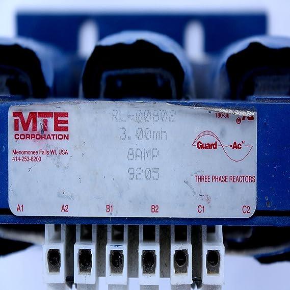 MTE RL-00802 RL00802 3MH 8 AMP 3 PHASE 3Y 208//230V LINE REACTOR  OTH071