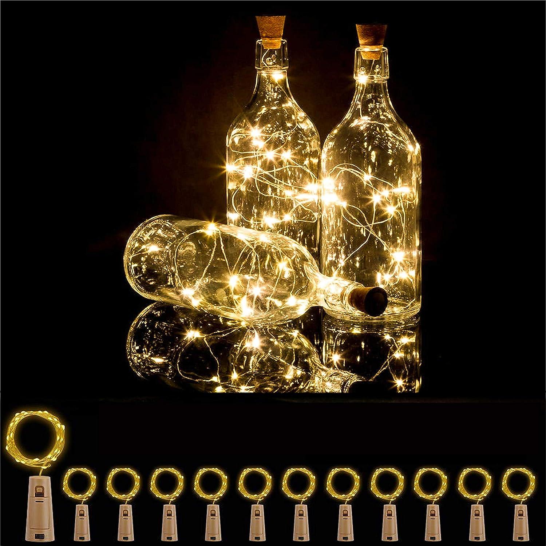 Bottle Lights 12 Pack 20 LEDs Cork Lights for Wine Bottles Battery (Included) Powered Fairy Mini String Lights for DIY Jar Lighting Indoor Bedroom Party Wedding Christmas Halloween Decor (Warm White)