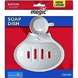 Magic Suction Soap Dish - Keep Your Shower or Bathtub Area Organized