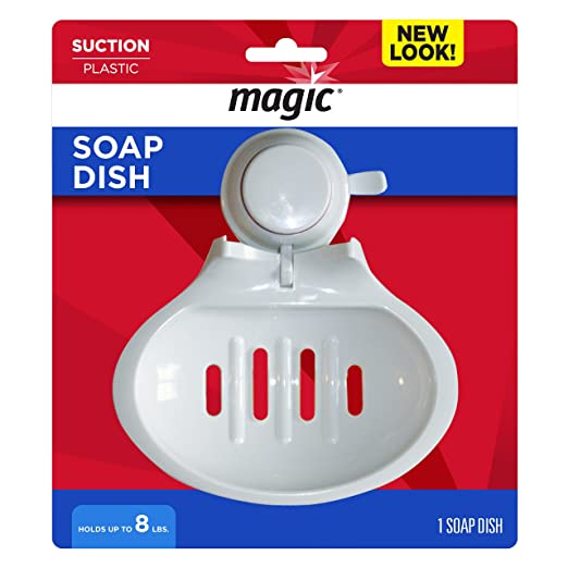 Amazon.com: MAGIC Suction Soap Dish - Keep Your Shower Bathtub Area Organized: Home & Kitchen
