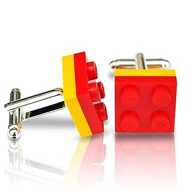 SJP Cufflinks LEGO® placa Gemelos (rojo y amarillo) España boda ...
