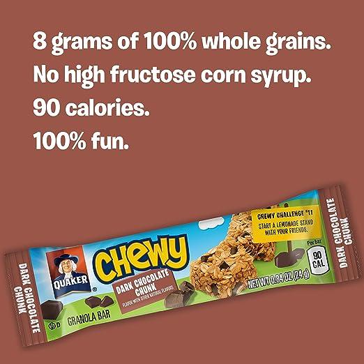 Amazon.com: Quaker Chewy Granola Bars, Dark Chocolate Chunk ...