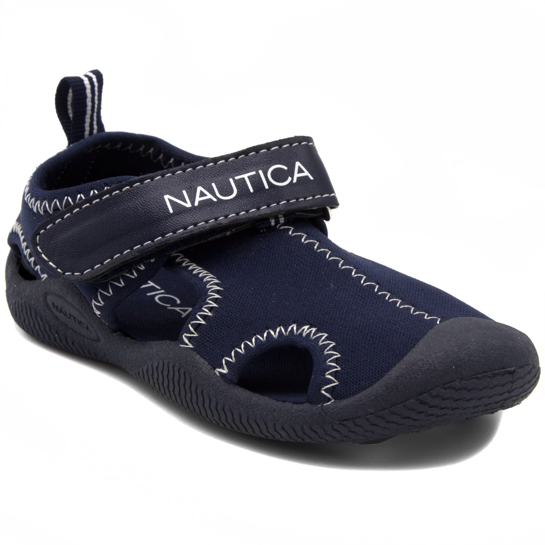 Nautica Kids Kettle Gulf Protective Water Shoe,Closed-Toe Sport Sandal-Solid Navy-10