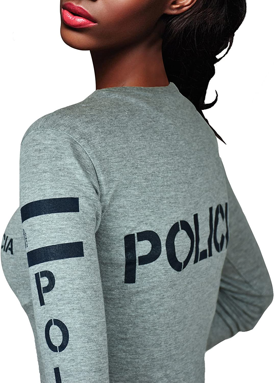 Aircops Camiseta Policia Manga Larga Mujer: Amazon.es: Ropa y ...