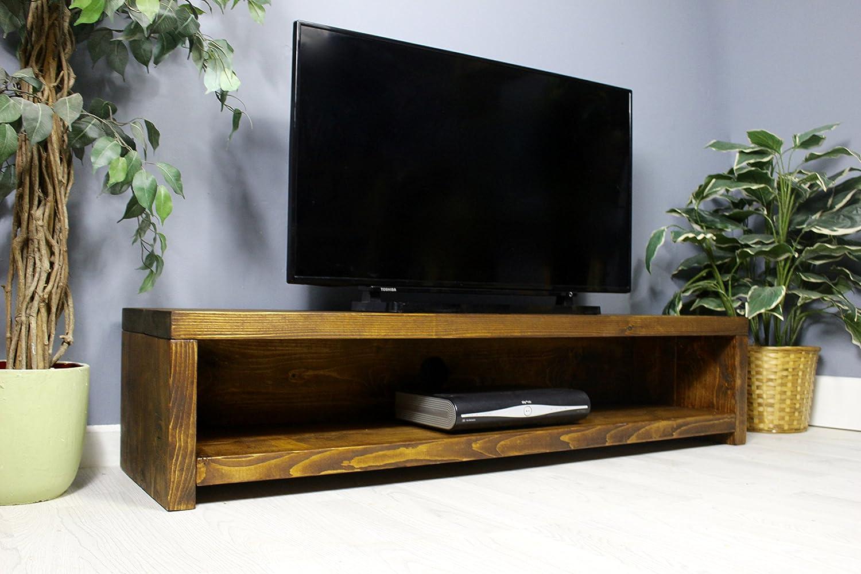 Mueble rústico de Madera Maciza de Pino Hecho a Mano Mueble de televisión/Soporte, Acabado en Roble Grueso Country 180cm Length Medium Oak: Amazon.es: Electrónica