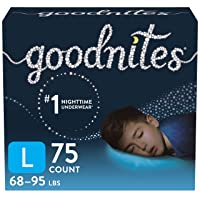 Goodnites Nighttime Bedwetting Underwear, Boys' L (68-95 lb.), 75 Ct